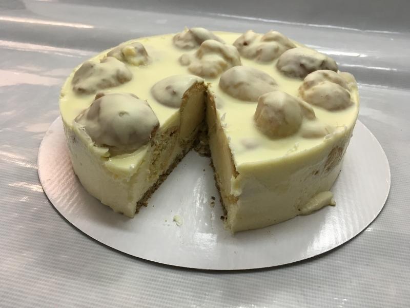 Торта Еклерова - бяла